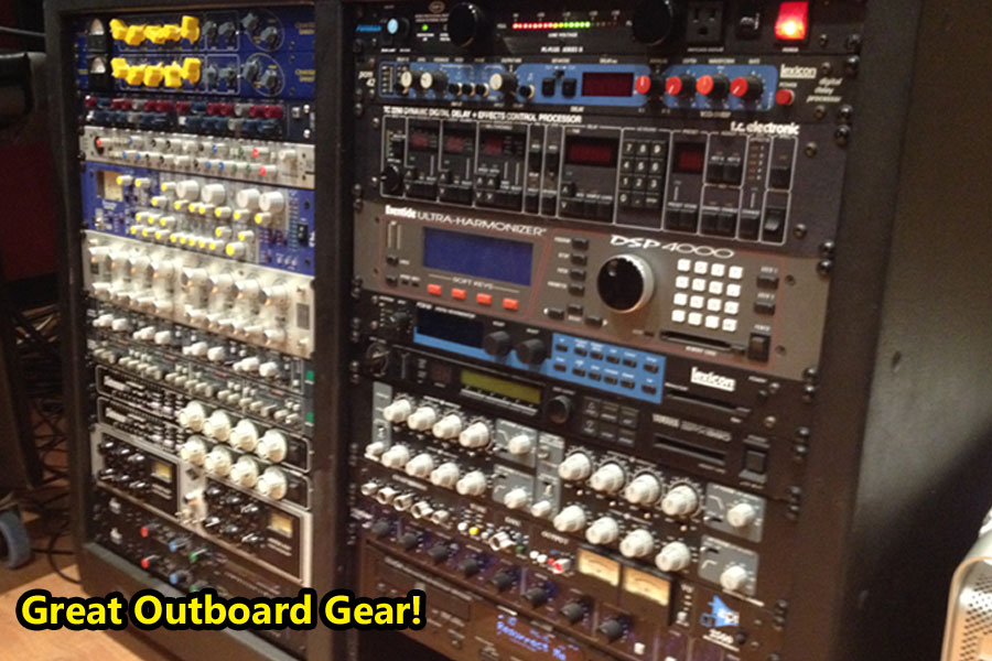 Outboard processing equipment for our recording studio